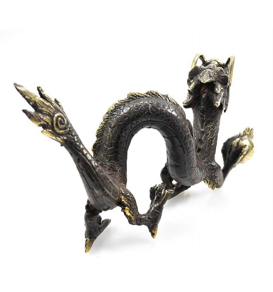 Statue Dragon d/'Asie en bronze Déco chinoise asiatique.
