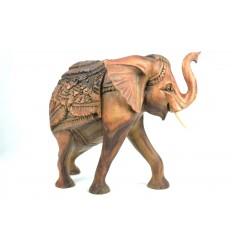 La grande Statua in legno elefante H30cm. Pezzo raro !