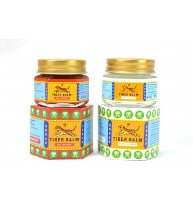 Genuine Tiger Balm not expensive : 1 red + 1 white (2x20gr)