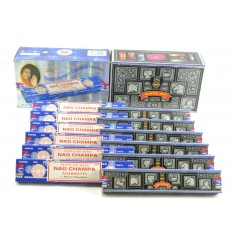 Incense Satya cheap. Pack economic 12x15gr Nag Champa & Super Hit (about 140 stick).
