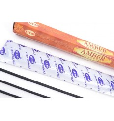Incense Amber fragrance. pack of 100 sticks brand HEM