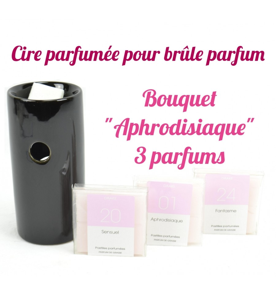pastilles cire parfum e drake pas ch re lot 3 senteurs aphrodisiaque. Black Bedroom Furniture Sets. Home Design Ideas