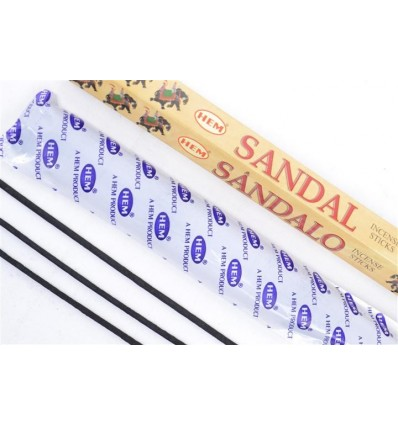 Incense Sandalwood. Lot of 100 sticks brand HEM