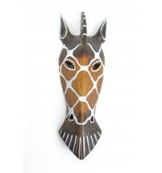 Mask Zebra wooden 30cm ethnic decoration.