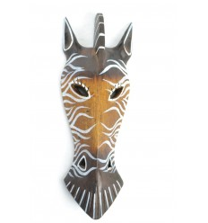 Mask Zebra wooden 27cm decoration Safari.