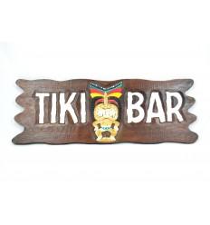 """Grande targa / cartello in legno """"Tiki Bar"""" fatti in casa."""