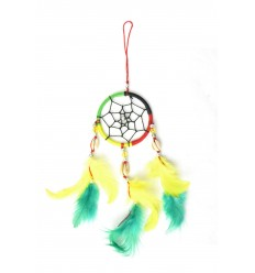 Giant dream catcher multicolor rasta reggae Jamaica - ideal rear-view mirror !