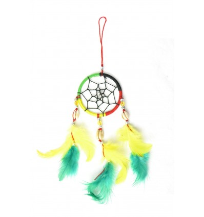 Gigante dream catcher multicolore rasta reggae Jamaica - ideale specchietto retrovisore !