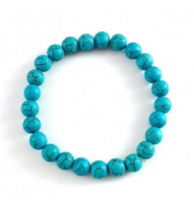 Bracelet Lithothérapie en Turquoise naturelle - Protection et purification.