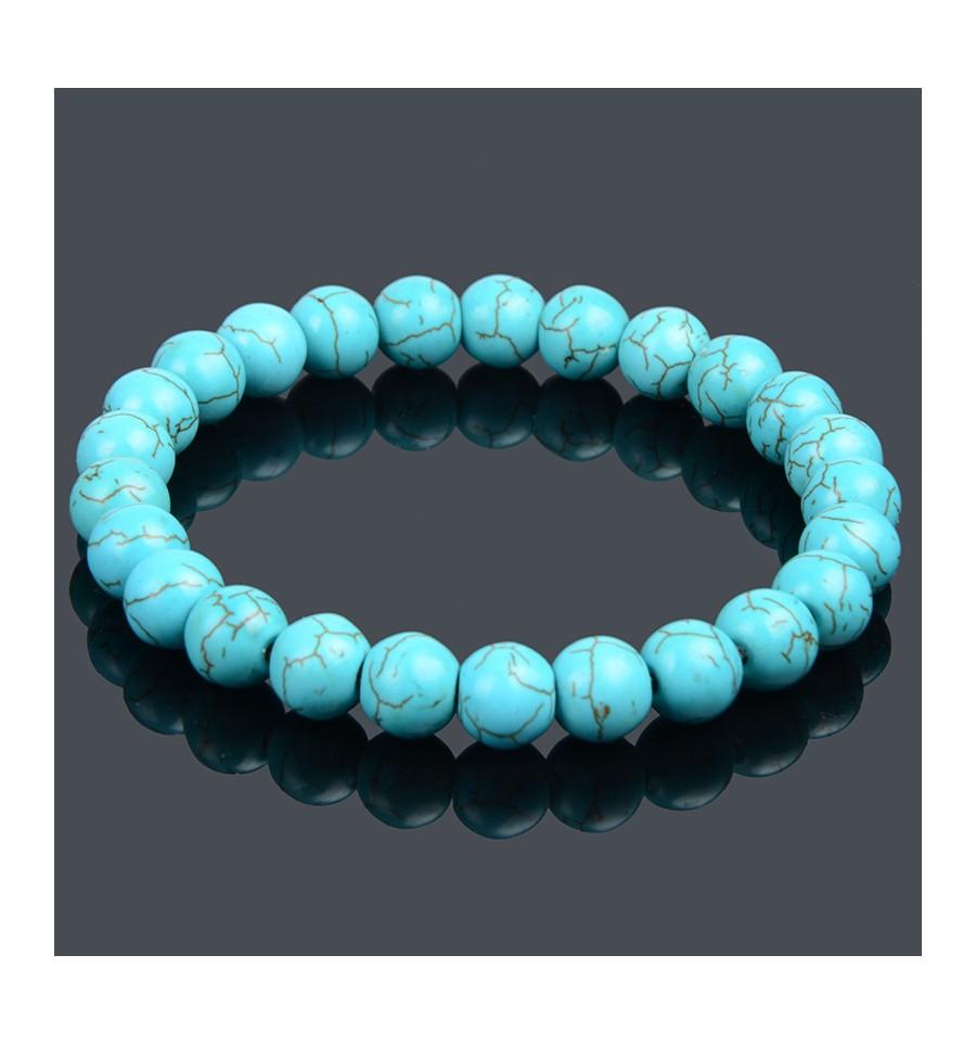 meilleur service 08821 d1451 Détails sur Bracelet en turquoise (Howlite) - Protection et purification -  Lithothérapie