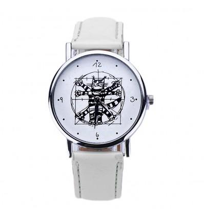 "Shows fantasy ""Da Vinci Cat"" - bracelet leatherette white. Free shipping !"