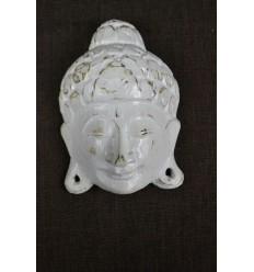 Piccola Maschera di Buddha parete A15cm di legno. Realizzati artigianalmente in Bali.
