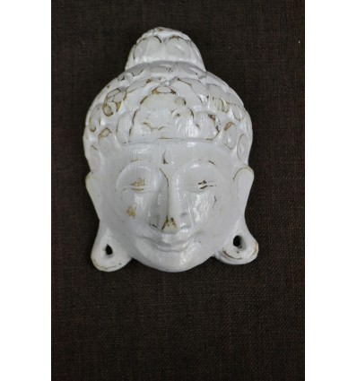 Small Mask of Buddha wall H15cm wooden. Handcrafted in Bali.