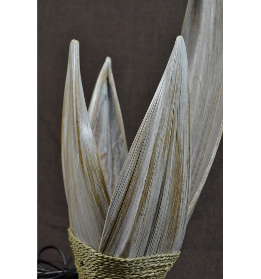 Fabriquer Lampe De Chevet Suspendu détails sur lampe de chevet ethnique chic en feuilles de cocotier.  fabrication artisana