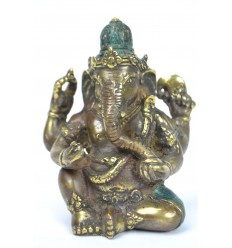 Figurine Ganesh en bronze massif. Decor asian indian.