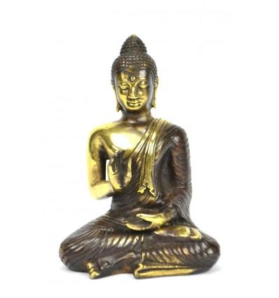 Statuette Bouddha Abhaya Mûdra en bronze H14cm. Série limitée.