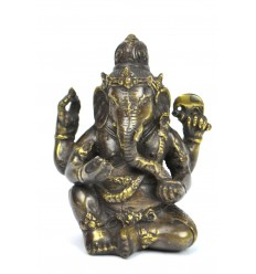 Figurine Ganesh en bronze H12cm. Crafts asian.