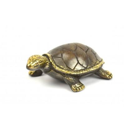Statuette deco Tortoise of land bronze. Creation craft.