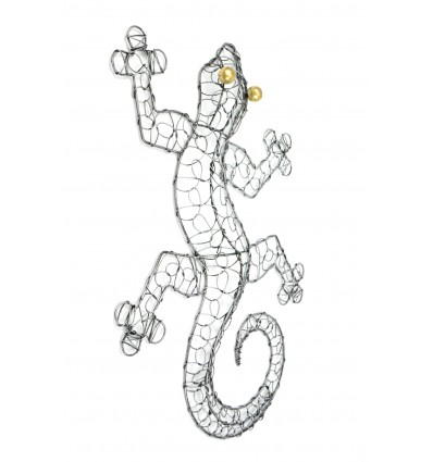 Gecko Margouillat wall decoration in wrought iron of 50 cm