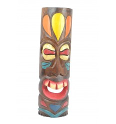 Tiki mask Polynesian h50cm wood. Wall decoration exotic.