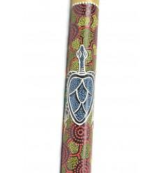 Rainstick 60cm décor peint à la main. Bâton de Pluie en bambou
