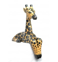 "Statua ""Giraffa sede"" sporgenza mensola H30cm. Deco Safari africano Savana."