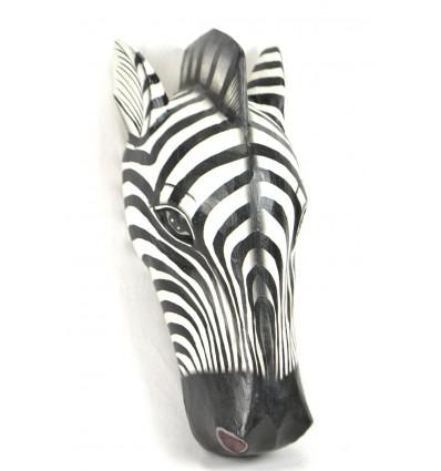 Mask / Trophy Head Zebra 50cm wood. Creation craft.