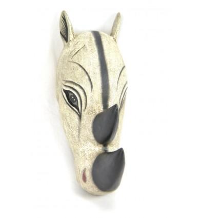 Maschera / Trofeo Testa di un Rinoceronte 50cm di legno. Creazione di artigianato.