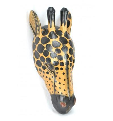 Mask / Trophy Head of a Giraffe 50cm wood. Creation craft.