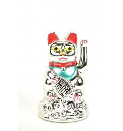 Maneki neko / Cat japanese silver - good luck
