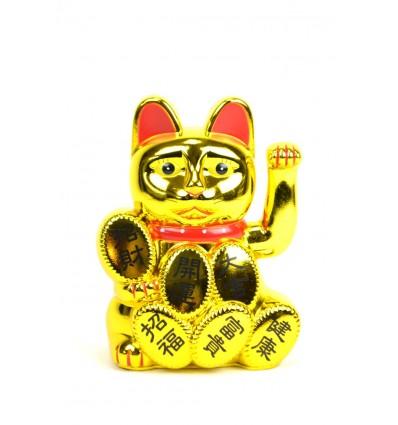 Maneki neko / Chat japonais doré Porte-bonheur