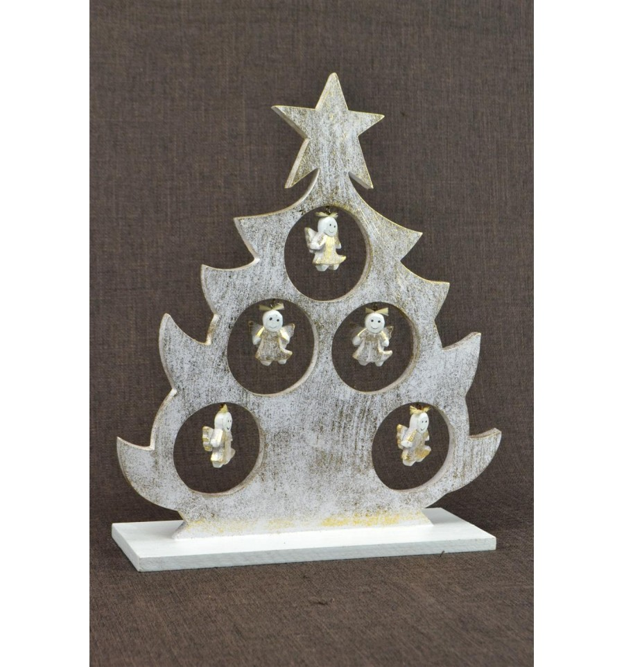 sapin de no l de table d cor anges d coration originale