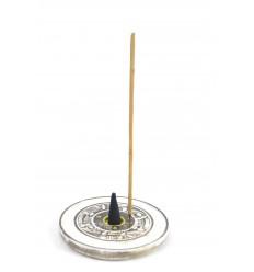 Porte-encens en bois pour cônes et bâtons - motif Yin Yang