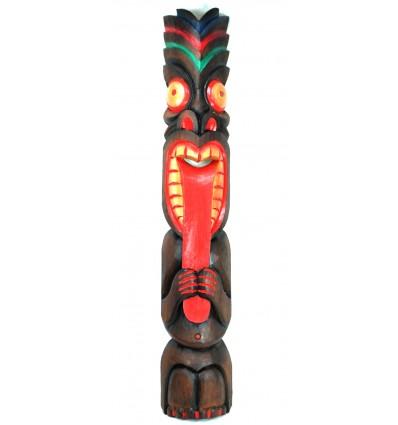 Grande Maschera Tiki Polinesiana XL: 100cm legno. Decorazione Maori.