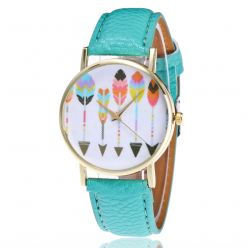 Watch fantasy woman pattern-Arrows - strap leatherette black