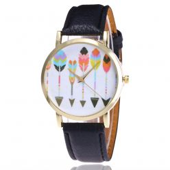 Watch fantasy woman pattern-Arrows - bracelet leatherette. Free shipping !