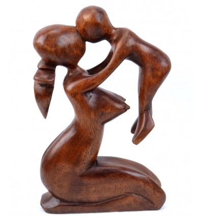 Statuette maternité maman bébé, idée cadeau de naissance pas cher.
