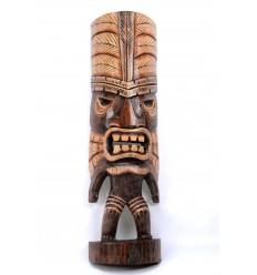 Statuette Tiki h40cm en bois massif sculpté et peint à la main