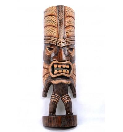 Tiki testa a buon mercato. Decorazione maori.