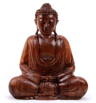 Statua di Buddha seduto nel loto. Artigianato dell'Asia.