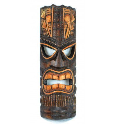 Tiki mask maori wood handcrafted, fair trade.