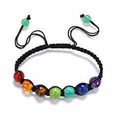 Shamballa Bracelet 7 chakras. Jewelry Yoga. The delivery is free.