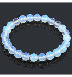 Bracelet Lithotherapie in natural Opal - Hope, purity, love.