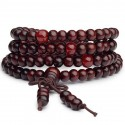 Bracelet Tibetan Mala beads wood + node without end.