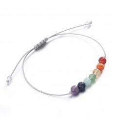 Gioielli di pietra : bracciale yoga lucky 7 chakra, pietre.