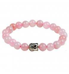 Bracelet en quartz rose naturel. Achat pas cher, livraison gratuite.