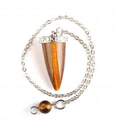 Pendulum tiger Eye, cone shape polished.