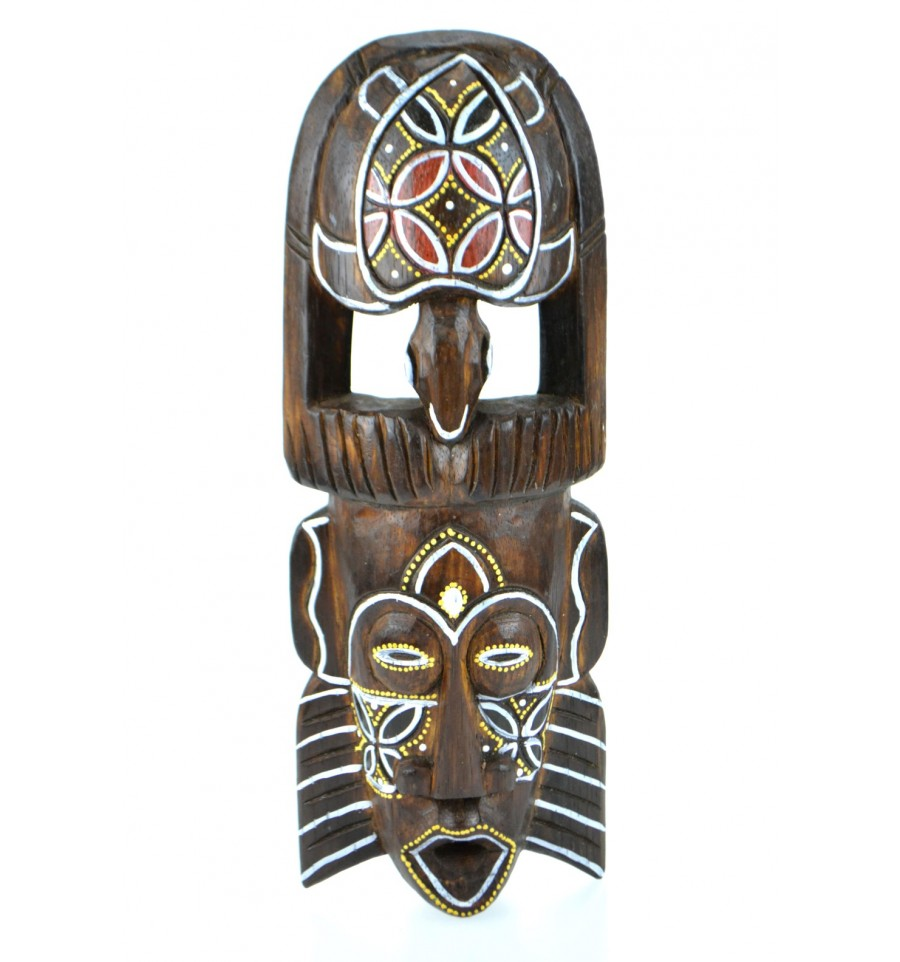 masque africain bois 30 cm