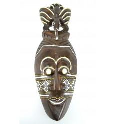 Masque africain pas cher en bois. Décoration murale exotique afrique.
