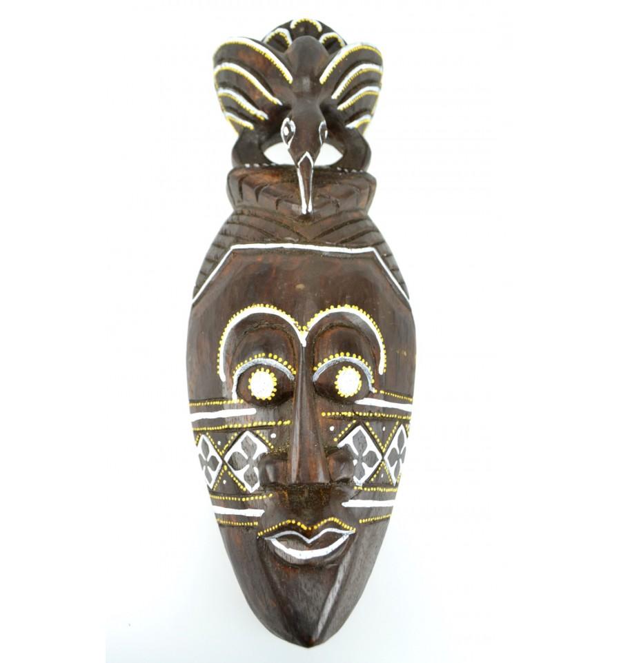 factory meilleure sélection fabrication habile Détails sur Masque Africain en bois 30cm motif oiseau.